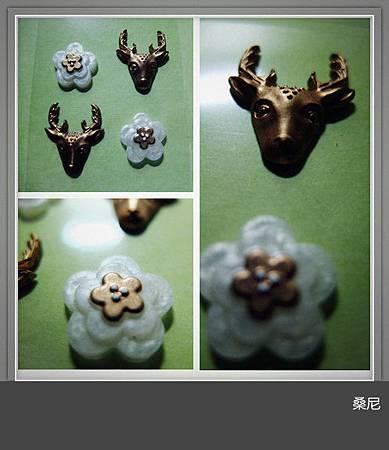 波麗貼紙-小鹿和花
