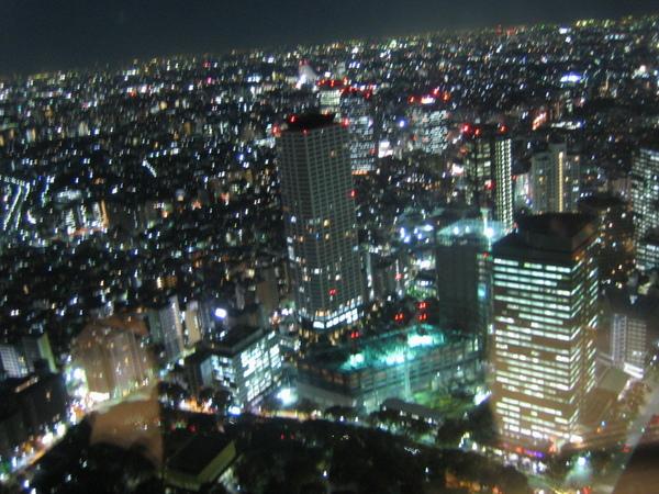 東京都廳看出去的夜景