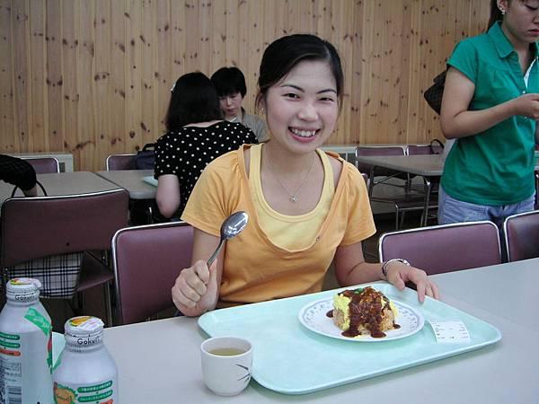 第一次也是最後一次在學校食堂吃飯