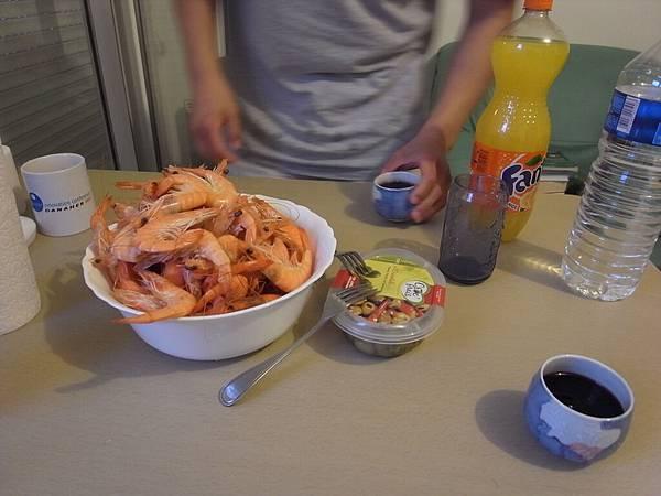 游子的大蝦餐