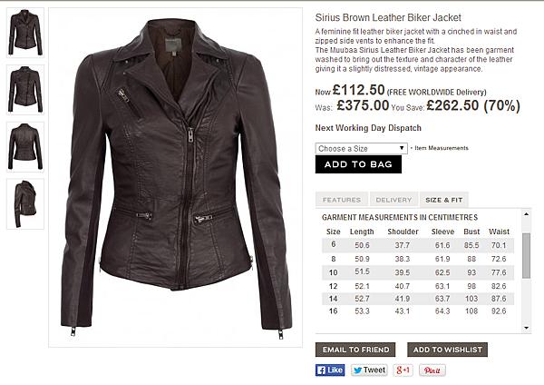Muubaa Sirius Brown Leather Biker Jacket