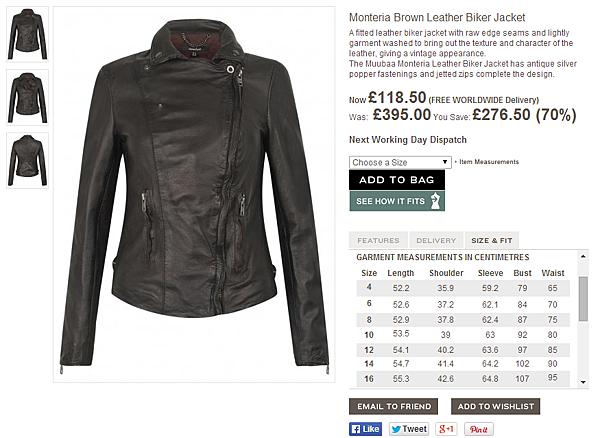 Muubaa Monteria Brown Leather Biker Jacket
