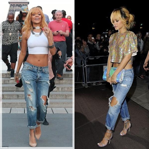 蕾哈娜穿搭刷牛仔褲照片 Rihanna Ripped Jeans.jpg