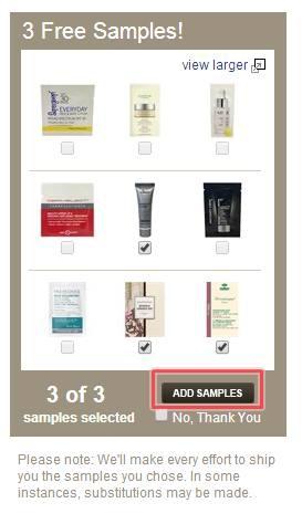 SkinStore Step7--選擇3樣試用包