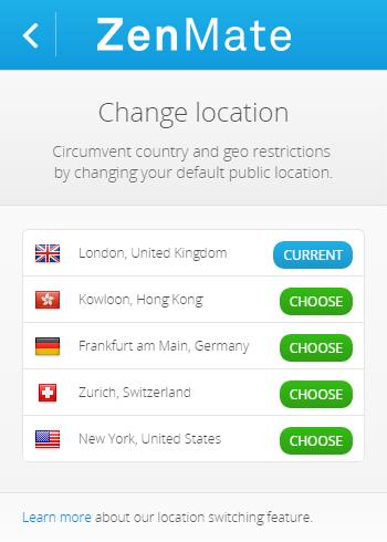 選擇國家來瀏覽網頁