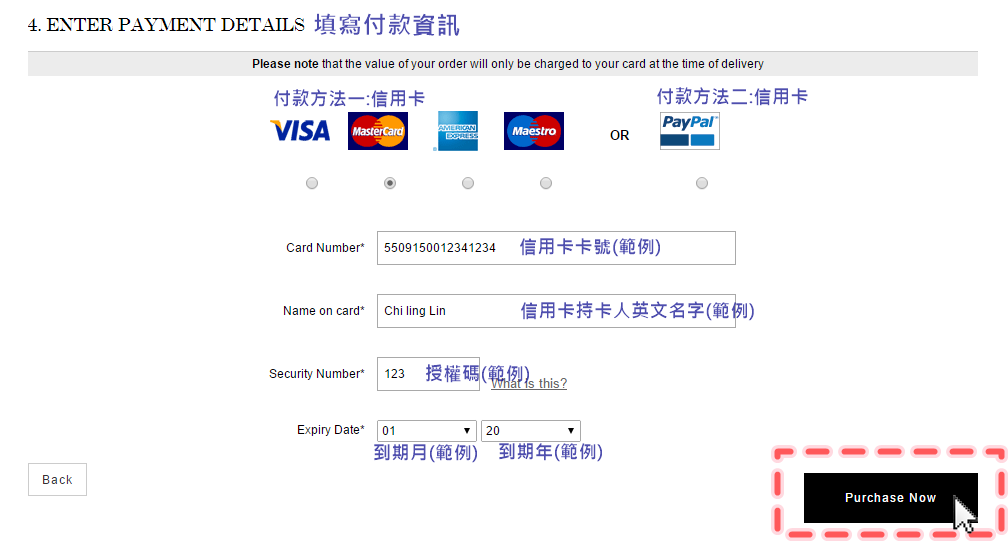 NET-A-PORTER購物教學7--填寫帳單地址_輸入付款方式的資料_5