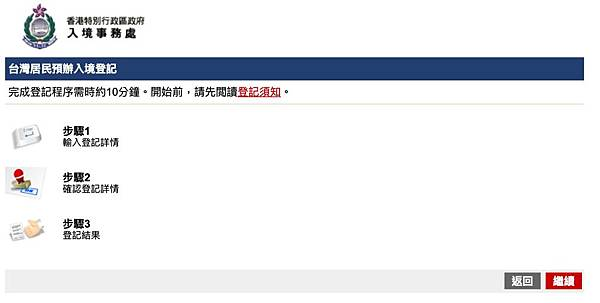 完成台灣居民預辦入境登記只要花費約10分鐘