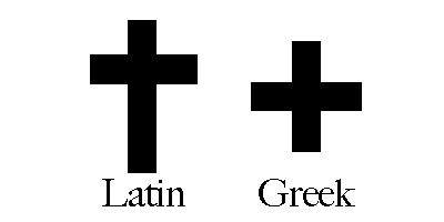 拉丁和希臘十字