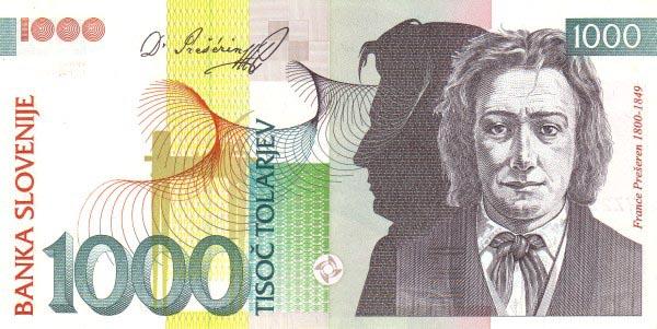 斯洛凡尼亞1000元