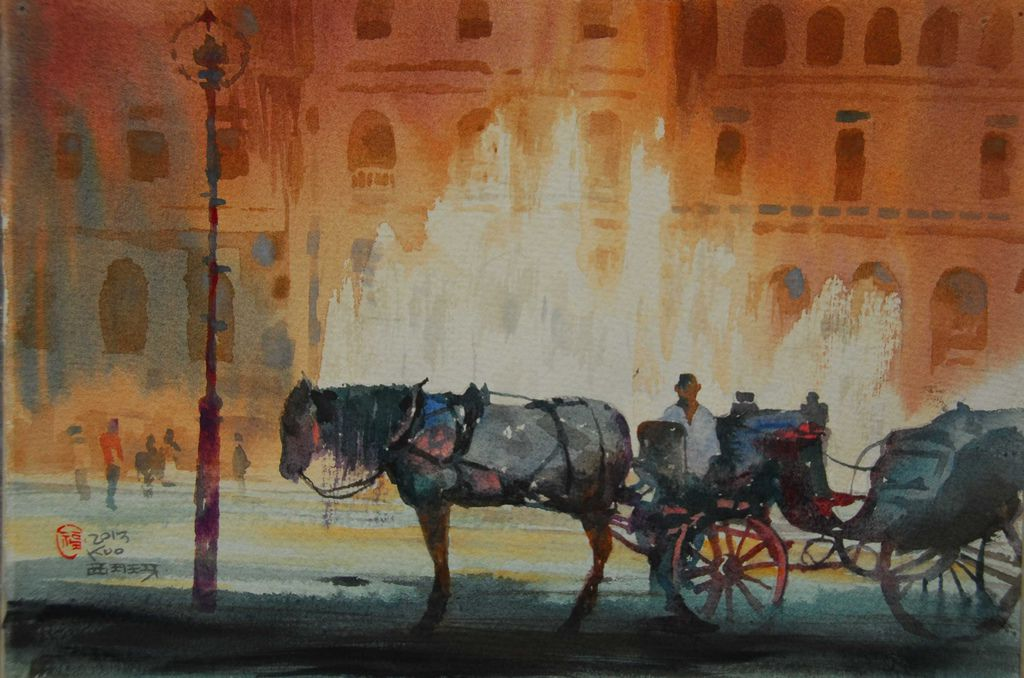 06DSC_8854-1塞維亞西班牙廣場上載客馬車