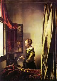 窗前讀信的女子1657-59