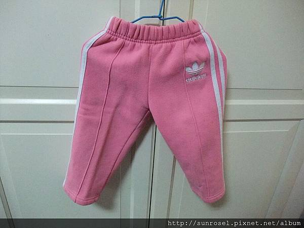 adidas粉色運動長褲