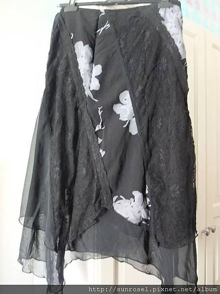 KUDA黑紗裙(XL)