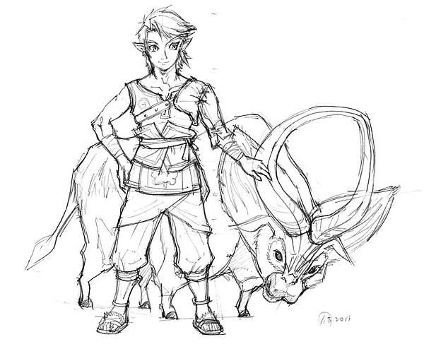 Zelda曙光仿畫1(黑白).jpg