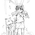 コカリ與梅太郎(鉛筆稿).jpg
