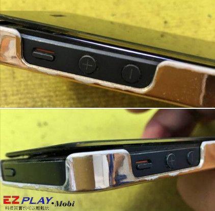 iPhone 5摔到面板浮起來啦!