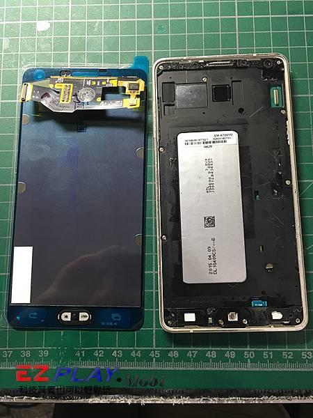 SAMSUNG GALAXY A7 面板破裂維修