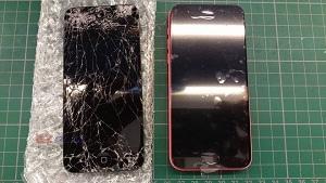 iphone 5C 慘摔