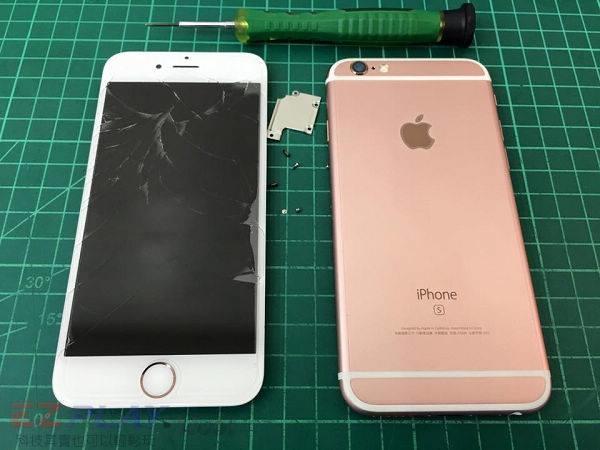 Apple iphone 6s面板摔破哪裡修照過來!