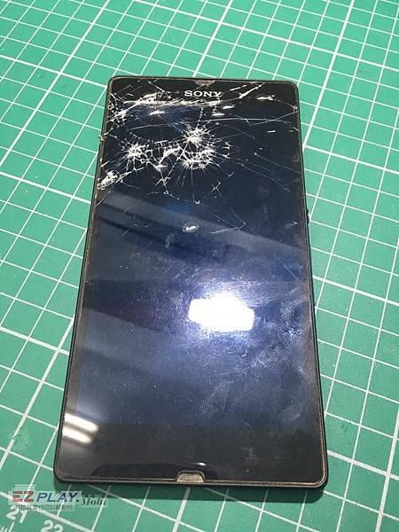 SONY Z不顯示面板破裂