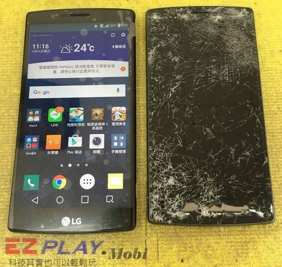 LG G4摔車遭輾奇跡生還