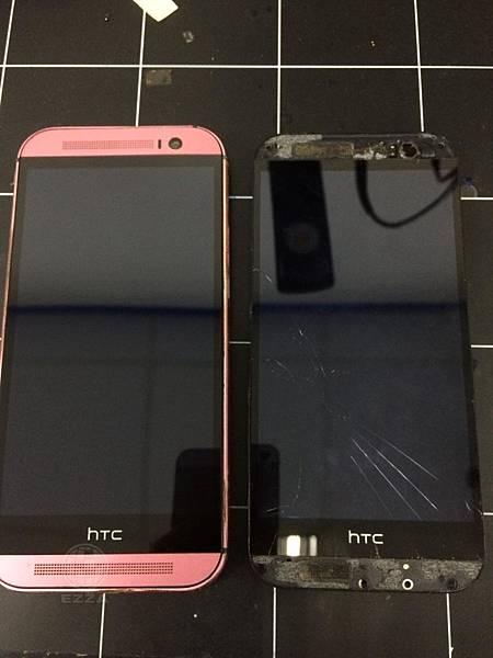 HTC M8面板破裂