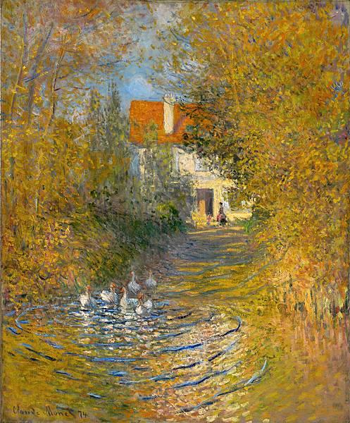莫內Geese in the Brook.jpg