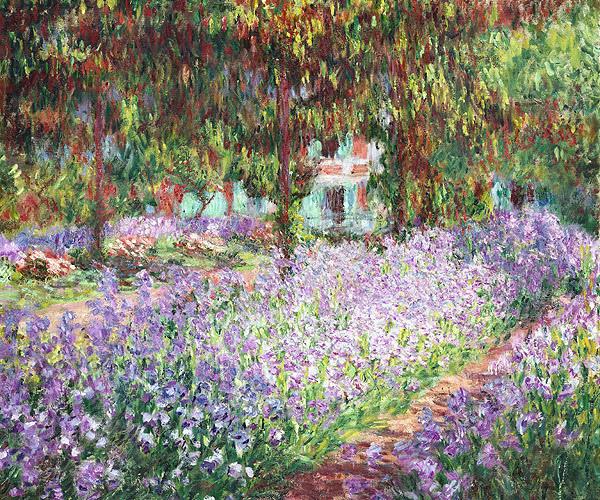 莫內花園裡的鳶尾花1900.jpg