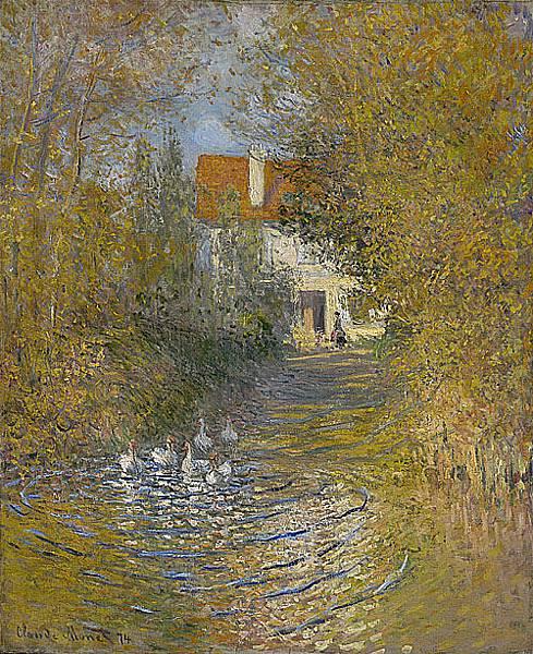 鵝溪 Geese in the Brook 1874.jpg