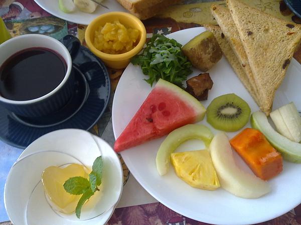 椰林觀海民宿的養生早餐