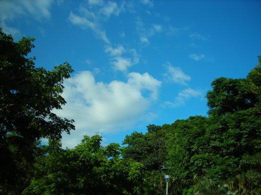 天空好藍~