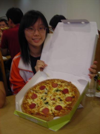 今天晚上吃pizza