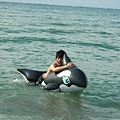 騎鯨魚啦~