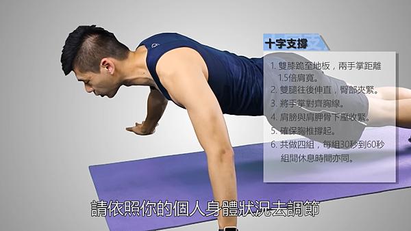 <SuperFIT居家健身菜單>基礎胸肌訓練-十字支撐