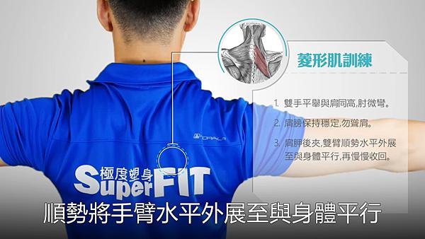 <SuperFIT居家健身菜單>居家伸展改善上交叉綜合症候群-菱形肌訓練