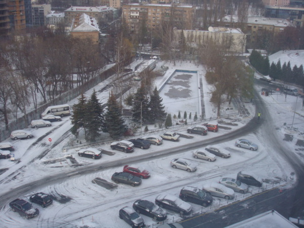 烏克蘭飯店外的景色
