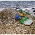 情人心碎沙灘著名的玻璃石