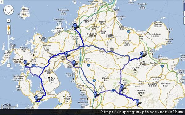 九州旅遊全圖