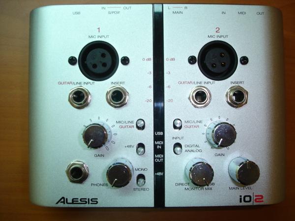 Alesis IO2 錄音卡正面