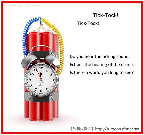 Do you hear the ticking sound.