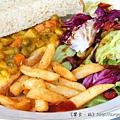 《台南》巴黎波波 輕食館 麵包餐 三角吐司 (17)