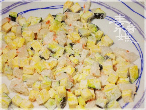 過年年菜-素 生菜蝦鬆06.JPG
