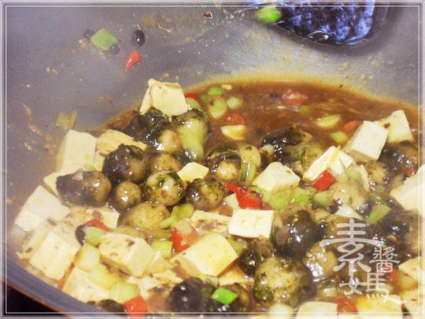 炒豆豉草菇(素豆豉蚵)25