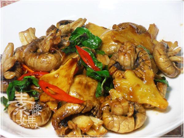 素食快炒料理-素炒螺肉(炒磨菇)12