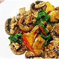 素食快炒料理-素炒螺肉(炒磨菇)13