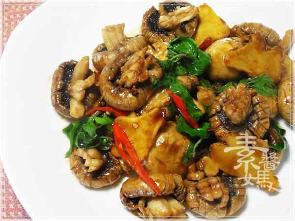 素食快炒料理-素炒螺肉(炒磨菇)14