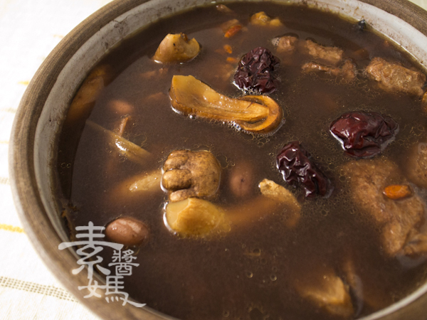 冬季補湯-素食藥燉排骨-5