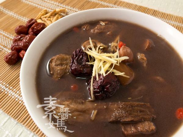 冬季補湯-素食藥燉排骨-8