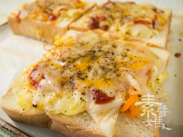 簡單早餐-焗烤土司-12