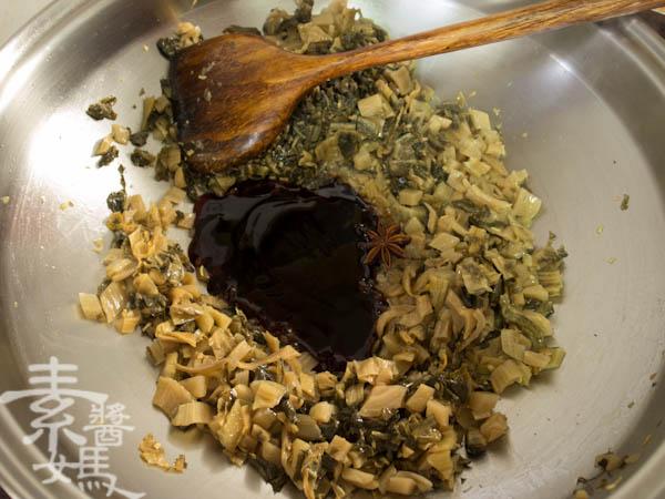 素食年菜料理-梅干(福菜)扣肉-10